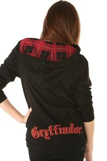 Harry potter gryffindor hooded cardigan back