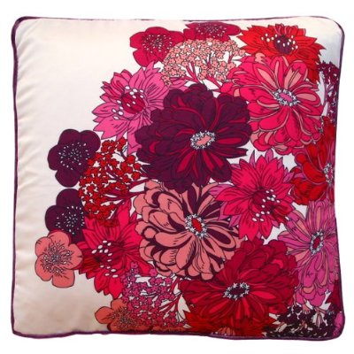 Fuschia pillow front